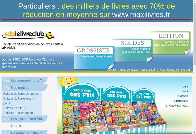 Capture d'écran du site de Sdp - Maxilivres