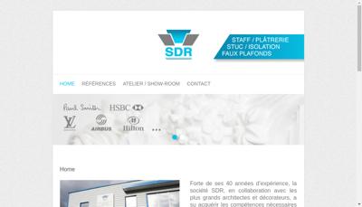 Capture d'écran du site de SDR