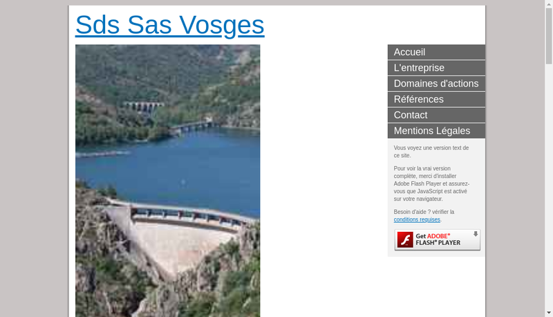 Capture d'écran du site de SDS