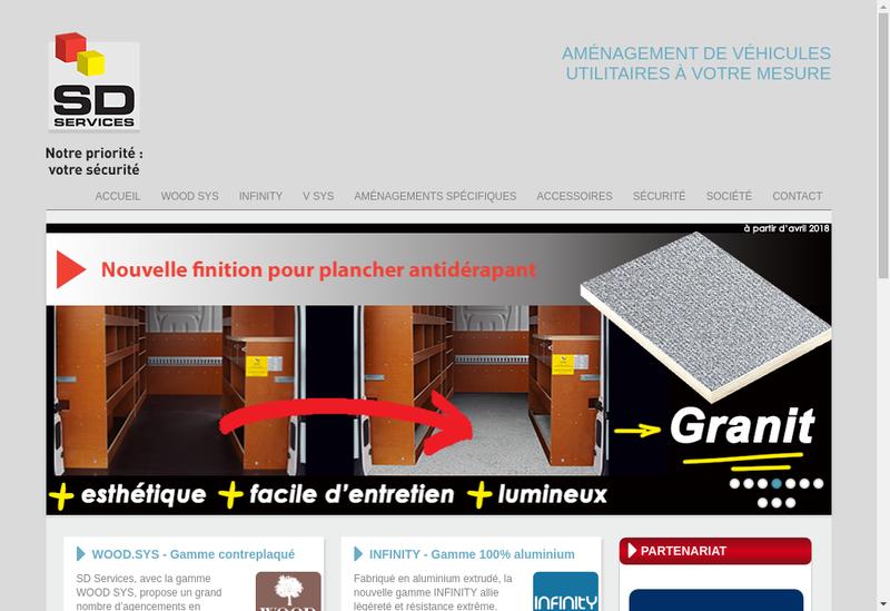 Capture d'écran du site de Sd Services