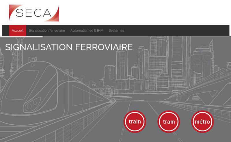 Capture d'écran du site de Seca
