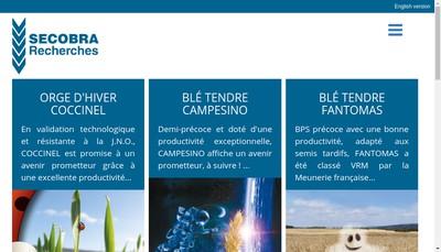 Site internet de Secobra Recherches