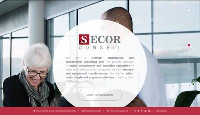 Site internet de Secor Conseil