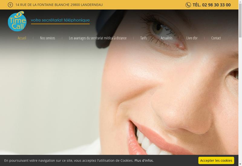 Capture d'écran du site de Time Call