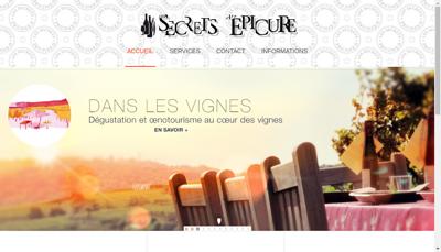 Capture d'écran du site de Les Secrets d'Epicure