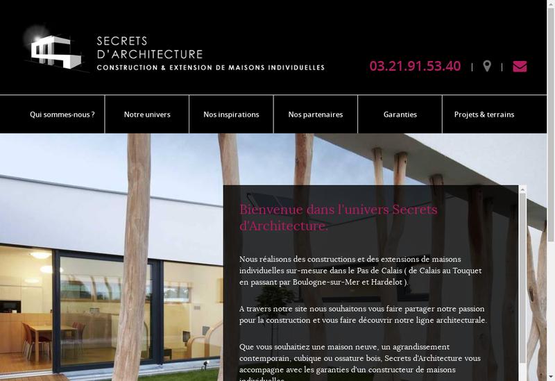Capture d'écran du site de Secrets d'Architecture