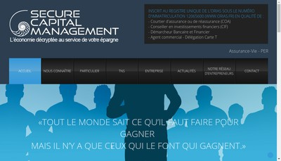 Site internet de Secure Capital Management