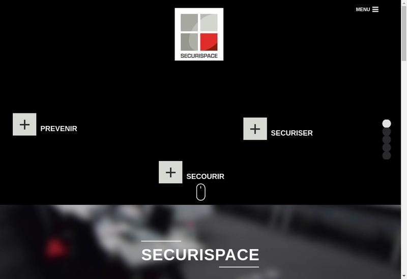Capture d'écran du site de Securispace Gestion
