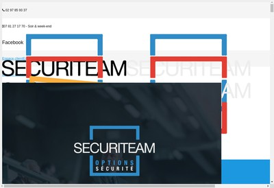 Site internet de Options Securite Securiteam