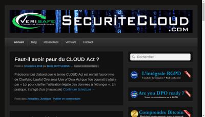 Capture d'écran du site de Verisafe