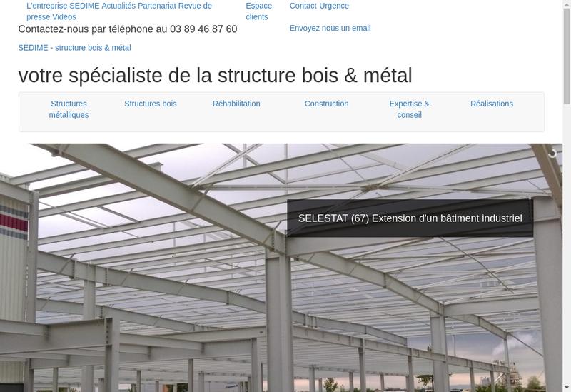 Capture d'écran du site de Societe Etudes Structures Metalliques Bois