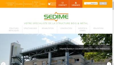 Site internet de Societe d'Etudes de Structures Metalliques et Bois