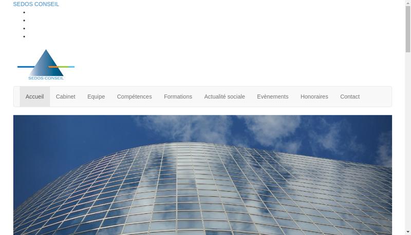 Capture d'écran du site de Sedos Conseil
