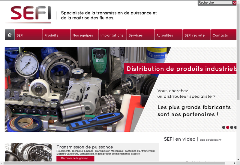 Capture d'écran du site de Sefi Transmission