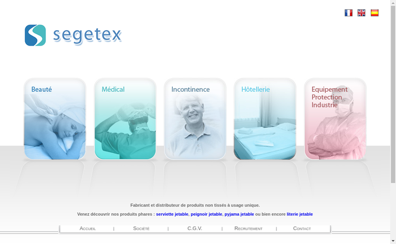 Capture d'écran du site de Segetex-Eif