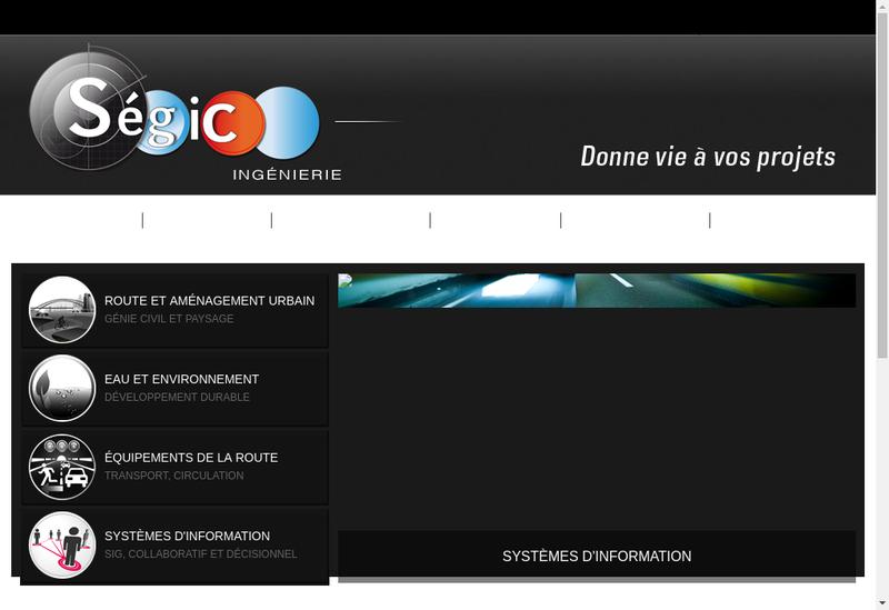 Capture d'écran du site de Segic Ingenierie
