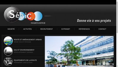 Site internet de Segic Ingenierie