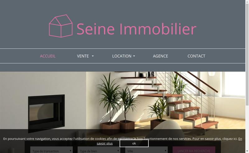 Capture d'écran du site de Seine Immobilier