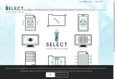 Site internet de Select Informatique