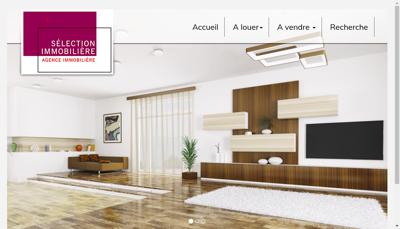 Capture d'écran du site de La Selection Immobiliere