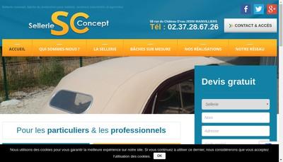 Site internet de Sellerie Concept