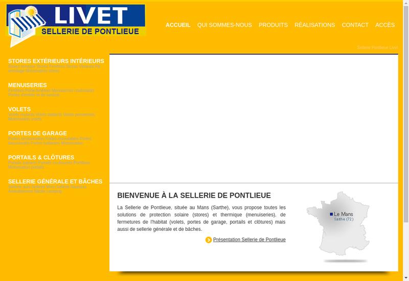 Capture d'écran du site de Livet