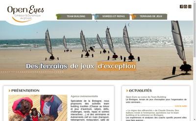 Site internet de Open Eyes