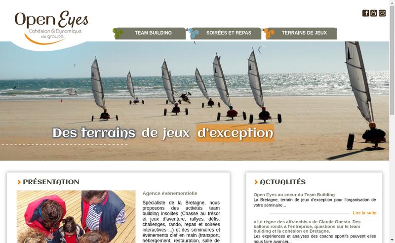 Capture d'écran du site de Open Eyes