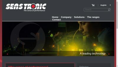 Capture d'écran du site de Senstronic