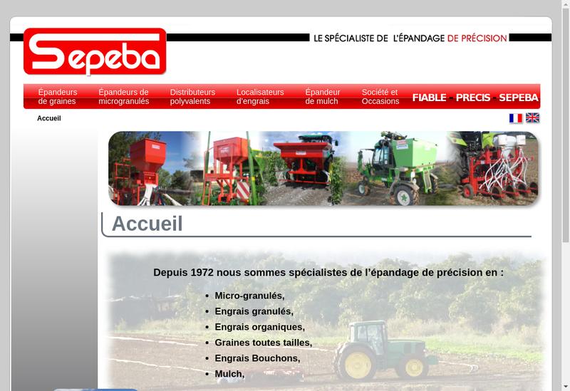 Capture d'écran du site de Sepeba Ebra