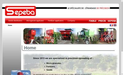 Site internet de Sepeba Ebra