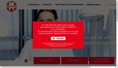 Site internet de Septodont Ou Septodont SAS Ou Specialites Septodont
