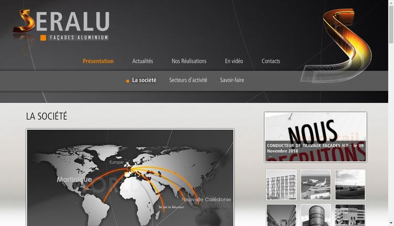 Capture d'écran du site de Seralu
