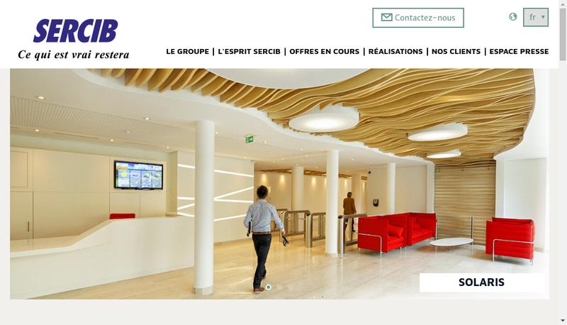 Capture d'écran du site de Sercib France
