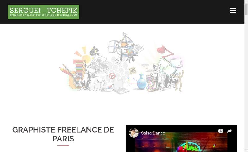 Capture d'écran du site de Serguei Tchepik