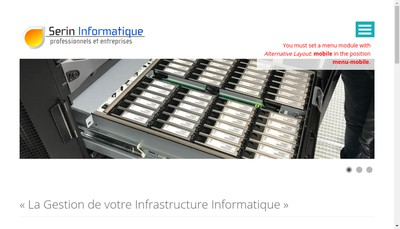 Site internet de Serin Informatique