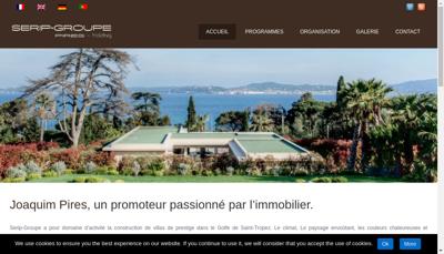 Capture d'écran du site de Provence Bastides