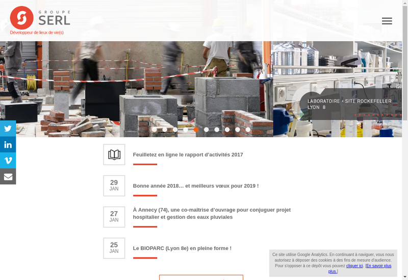 Capture d'écran du site de Serl@Immo2