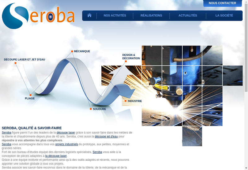 Capture d'écran du site de Seroba