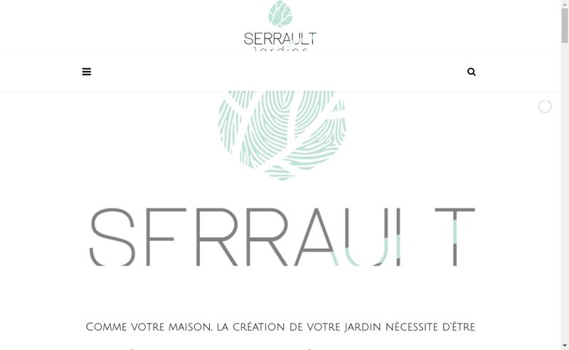 Capture d'écran du site de Serrault Jardin