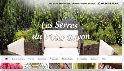 Capture d'écran du site de Les Serres du Vivier Guyon