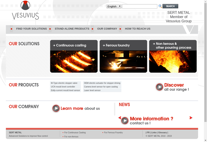Capture d'écran du site de Sert-Metal
