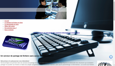 Capture d'écran du site de Sacig
