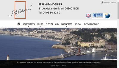 Site internet de Sesam'Immobilier