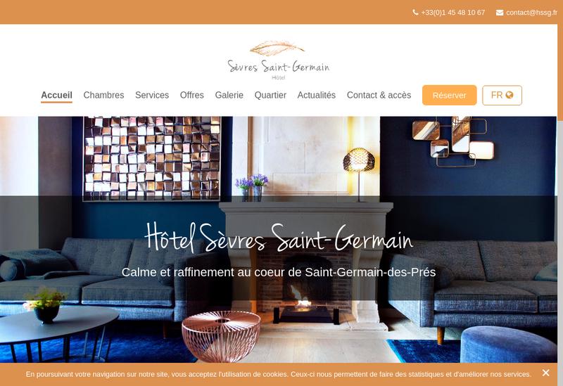 Capture d'écran du site de Hotel Sevres Saint Germain