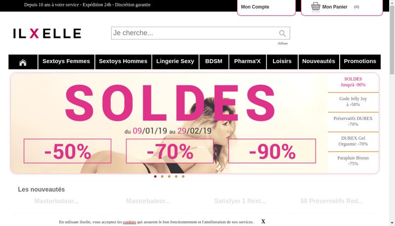 Capture d'écran du site de Il X Elle
