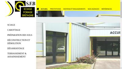 Capture d'écran du site de Sfb Morbihan