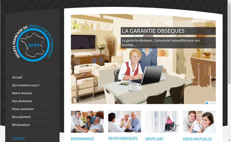 Capture d'écran du site de Sfpp