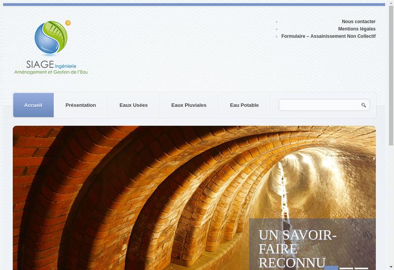 Capture d'écran du site de Siage Societe Ingenierie Amenag Gest Eau