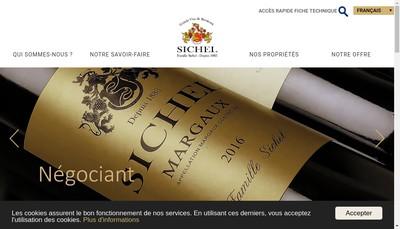 Site internet de Societe Sichel